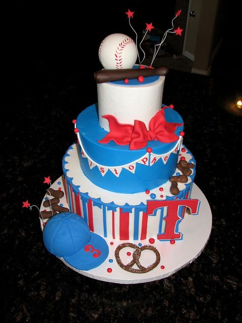 "Baseball Cake...Substitute the ""T"" for a ""C"", of course...lol. (:"