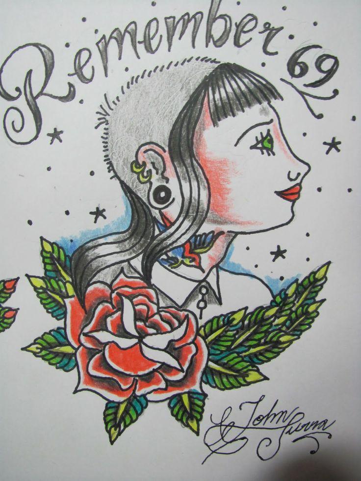Traditional Skinhead Tattoo Art