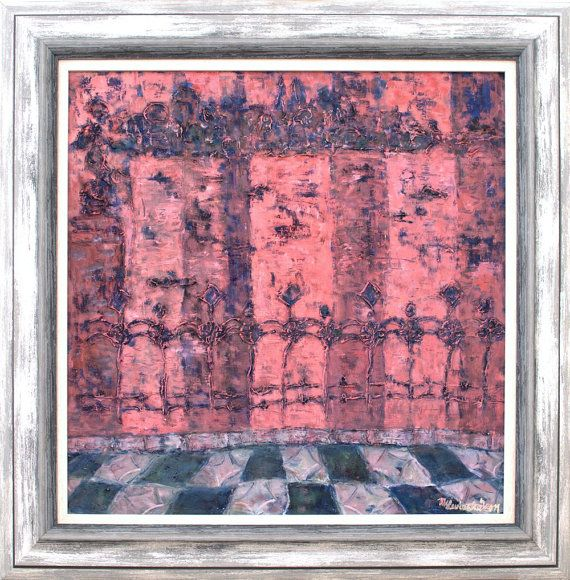 Fine art print red blue grey giclée print on by MarilionFineArt