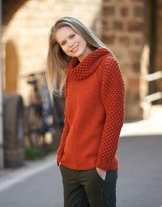 Revista mujer Básicos 9 Otoño / Invierno   20: Mujer Jersey   Naranja intenso