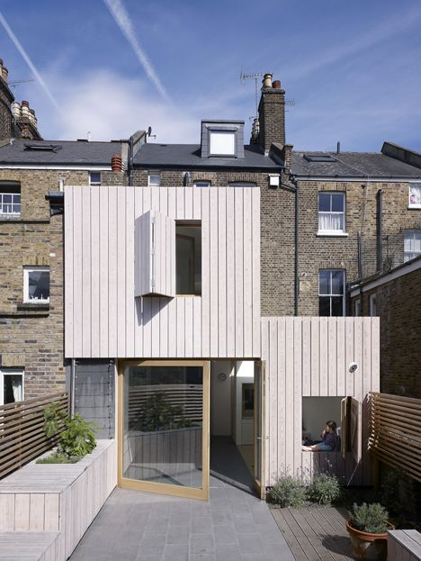 Hayhurst and Co. adds beach house-inspired extension to London residence White stained larch