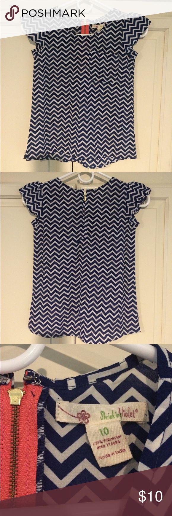 Girls Shrinking Violet Blue Chevron Shirt 10 Girls Shrinking Violet Blue Chevron Shirt 10 Shrinking Violet Shirts & Tops Blouses