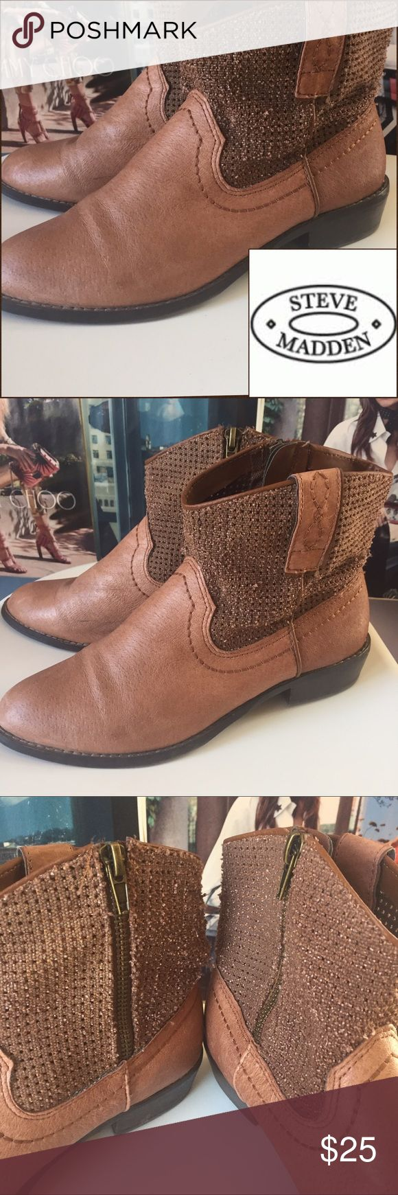 NEW | Steve Madden | FESTIVAL booties These Steve Madden boots are perfect for festival season!! Comfortable leather and cowboy boot heels with perforated leather tops to keep you cool. 7. Leather. Two small black scuffs, pictured. EUC. Steve Madden Shoes Ankle Boots & Booties