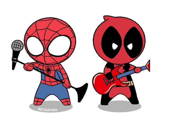 Spider-man and dead pool chibi