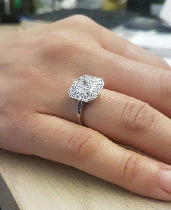 Pippa Middleton Engagement Ring Settings Replica 14k 18k Platinum