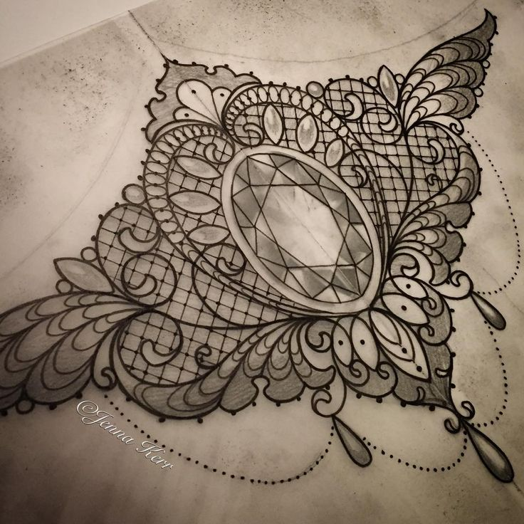 Underbust piece for tomorrow #underbusttattoo #lacetattoo #lace #jeweltattoo #underbust #jennakerr #devilinthedetail #vintage #vintagetattoo