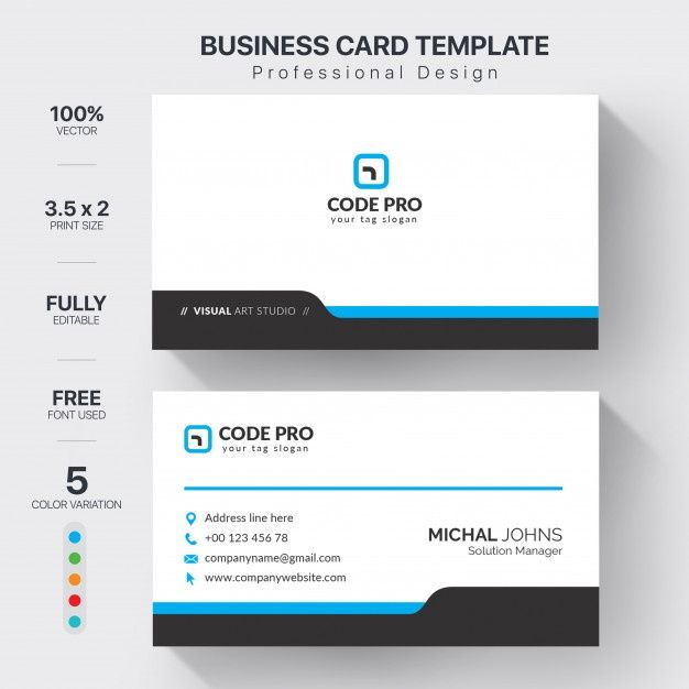 Download Professional Business Cards Template With Color Variation For Free Professional Business Cards Templates Professional Business Cards Card Template