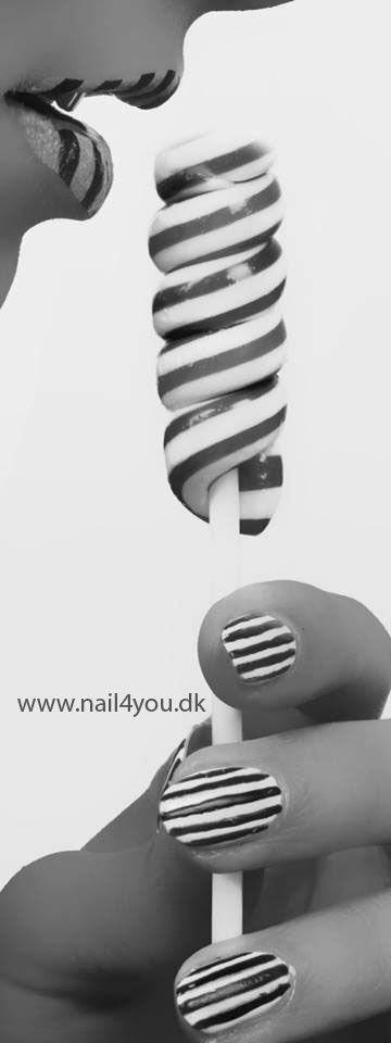 Nail art design gele negle hos nail4you.dk