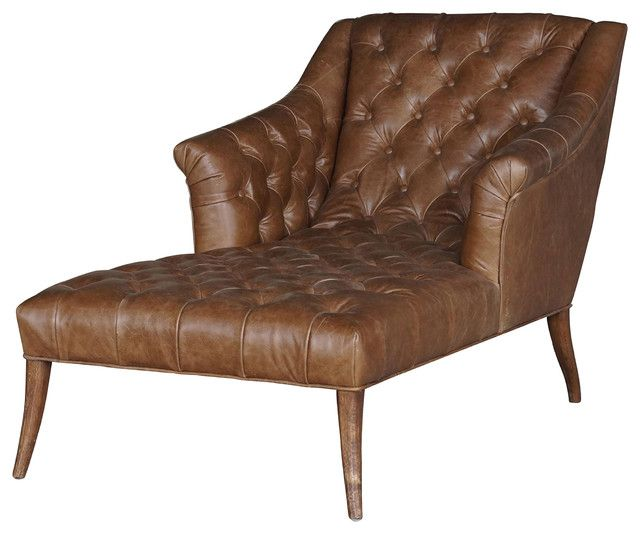 Leder Chaiselongue Lounge Sessel Ledersessel Braun Lounge