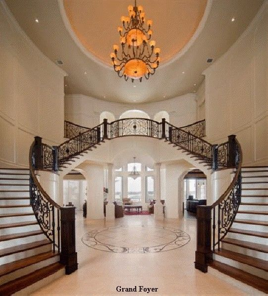 Elegant And Neutral Christmas Foyer: Elegant Double Stairs, To Go With My Future Mansion/castle