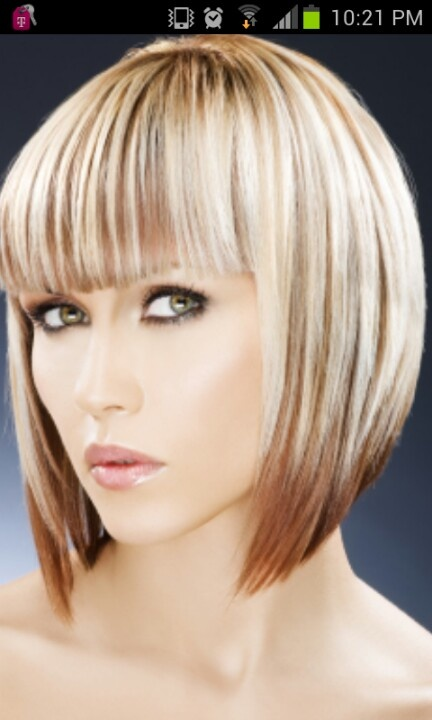 two toned hair styles two tone bob hairstyle the new bob girlie ness 1390