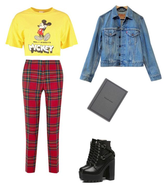 """""""Bzzzz"""" by skylarmuffin on Polyvore featuring Burberry, Disney, Levi's and Easy, Tiger"""