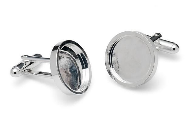 Bespoke Rhodium Metal cufflinks
