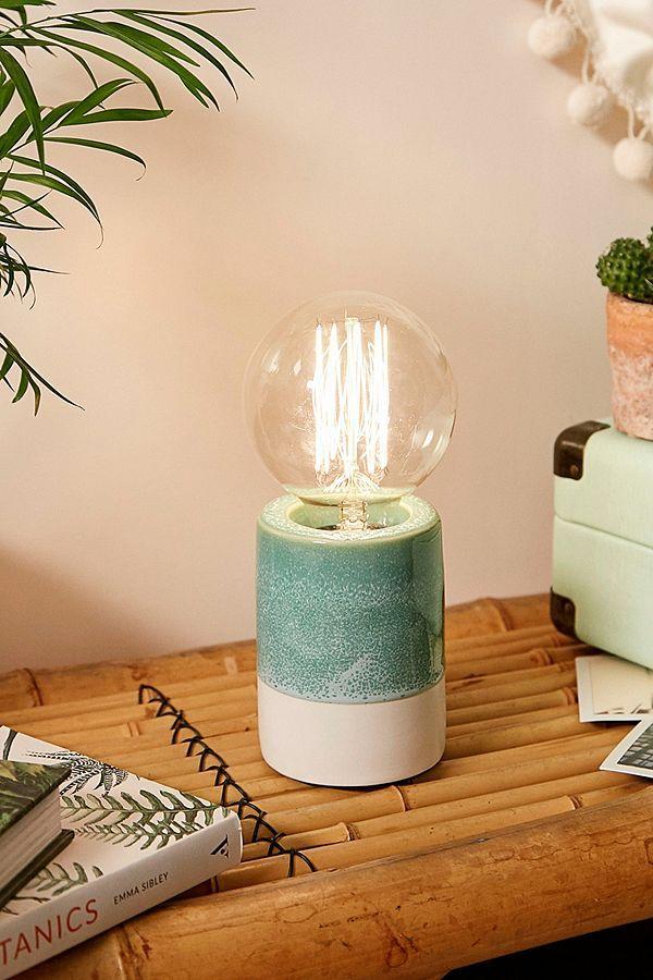 Green Drip Ceramic Lamp Ceramic Lamp Edison Bulb Lamp Lamp