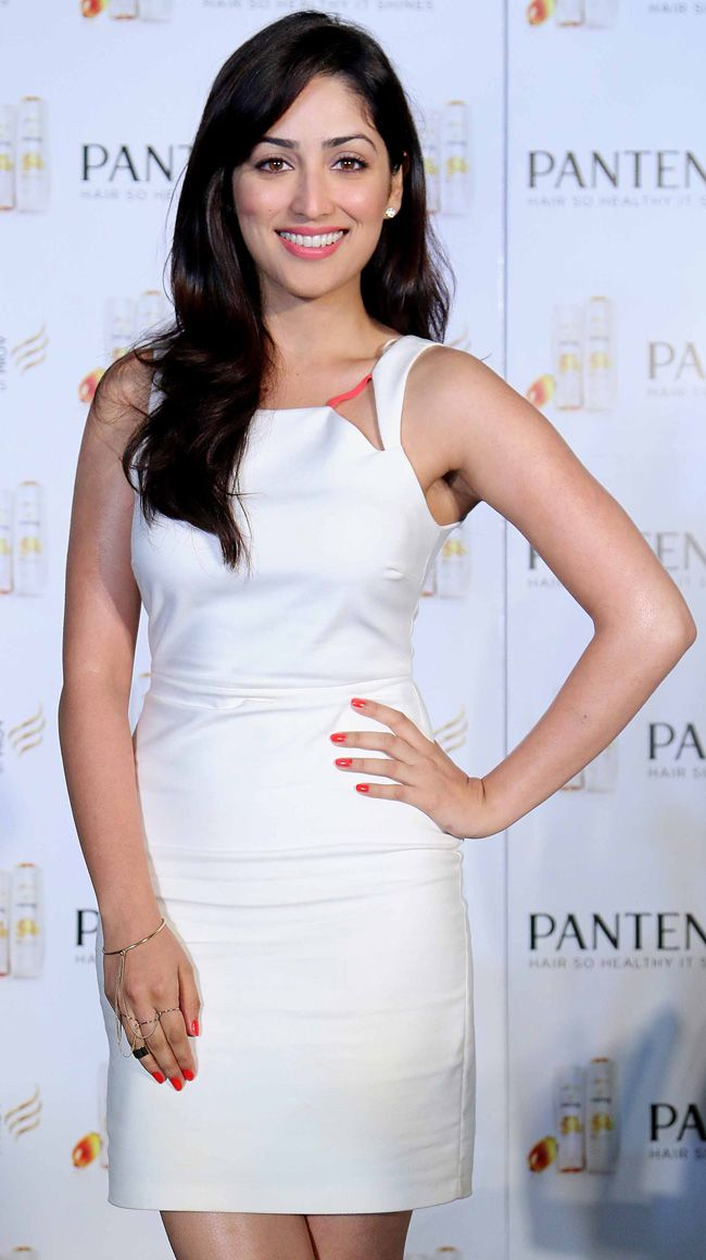 Yami Gautam looked stunning in little white dress at a Pantene promotional event.