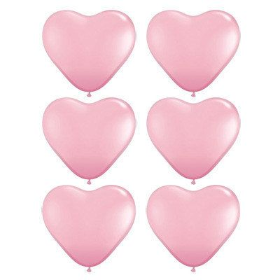 Heart Balloons  Pale Pink Heart Balloons  by CastlesandCupcakes