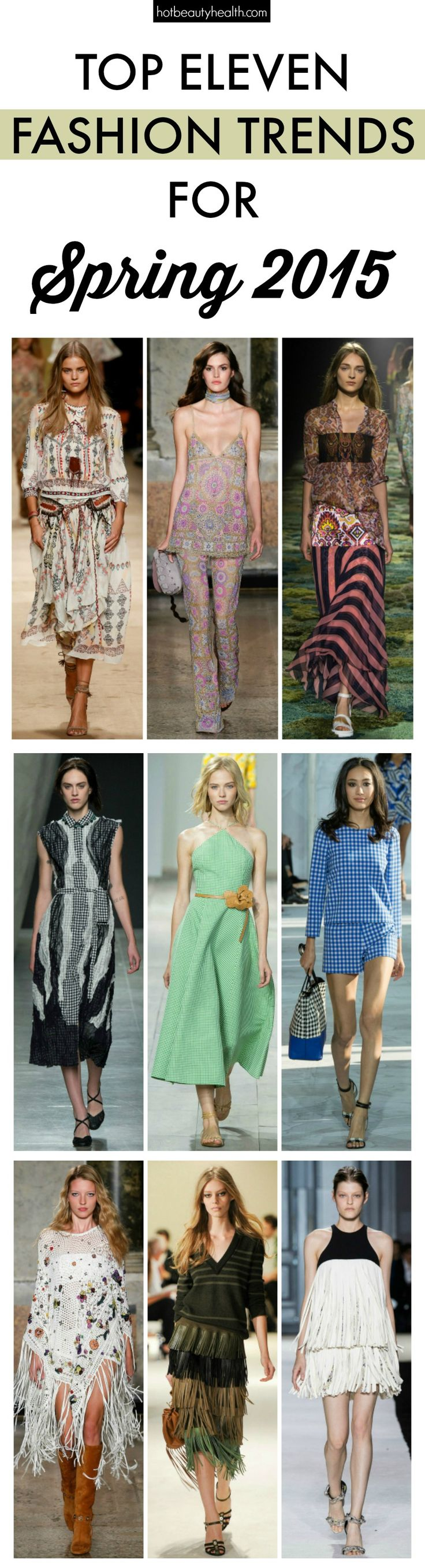 Do you know what you'll be wearing come spring? If not, don't worry because I've done all the hard work for you with a list of the top spring fashion trends that made a huge impact on the runways.