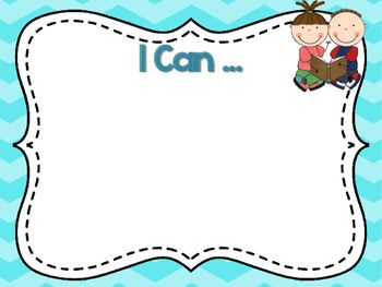 Use these cute I Can posters to display your standards and I Can statements…