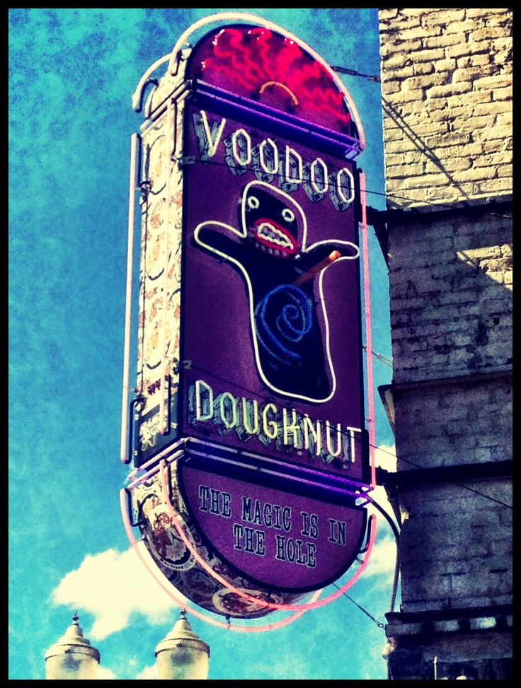 Voodoo Donuts Portland, Oregon. The original funky donut shop.