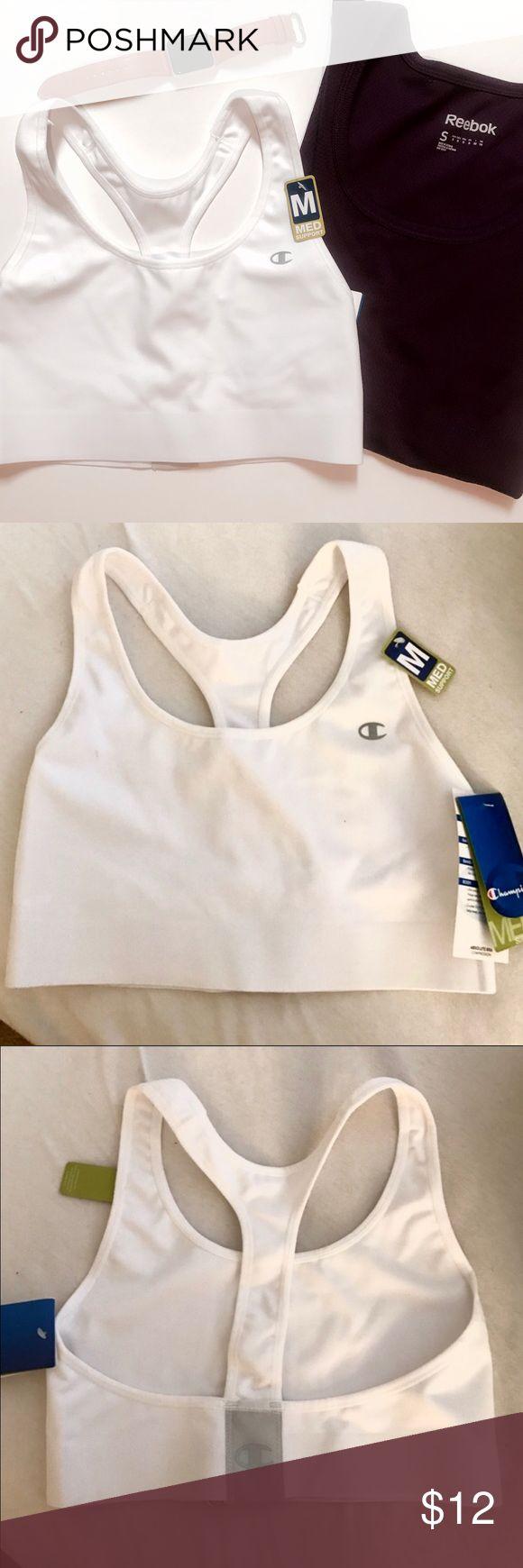 NWT White Champion Sports Bra New with tags. Size Medium. White Champion Sports Bra! Champion Intimates & Sleepwear Bras