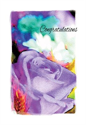 Free Printable Congratulations Greeting Card - Congratulations Flower | Greetings Island