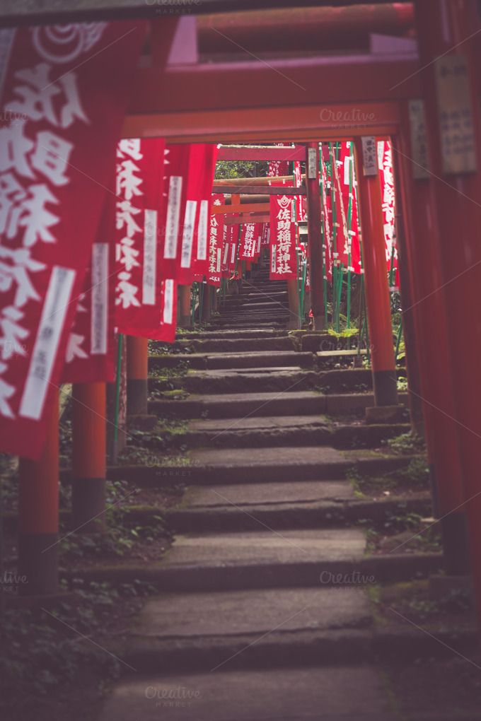 Way To Shrine ~ Architecture Photos on Creative Market