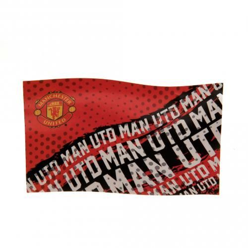 Large Manchester United flag in club colours and featuring the iconic club crest with MAN UNITED repeated all over. FREE DELIVERY on all of our gifts