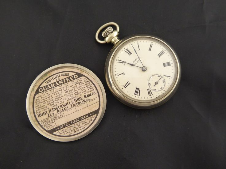 Vintage Ingersoll Eclipse Mechanical Pocket Watch Needs Work - The Collectors Bag