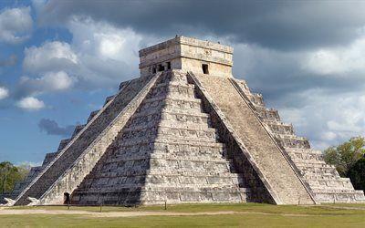 Scarica sfondi chichen itza, piramide di kukulkan, messico