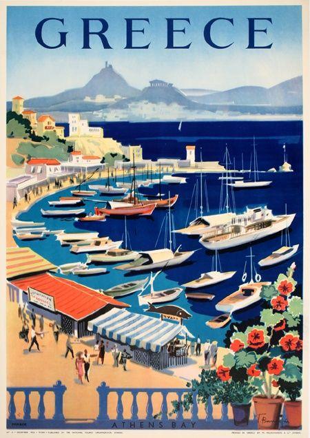 Greece vintage poster