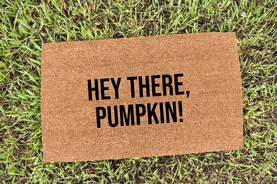 #pumpkin #fall #autumn #heypumpkin #falldoormat | Funny ...