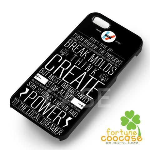 Twenty One Pilots Lyrics - azia for  iPhone 7+,iPhone 7,iPhone 6S/6S+,iPhone 6/6+,iPhone 5/5S/5SE,iPhone 5C,iPhone 4/4S cases and Samsung Galaxy cases