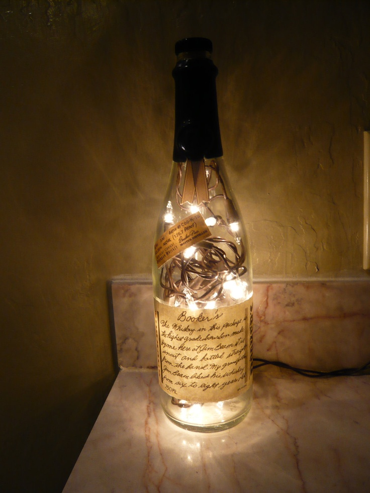 UpCycled Booker's Bourbon Whisky Bottle Lamp by Binghamjames, $16.00