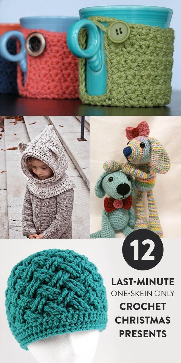 Do you have a number of single yarn skeins in your stash? Do you have a few folks that you'd love to suprise with an easy gift? You can fill two needs with one deed by quickly working up some of these one-skein crochet patterns.