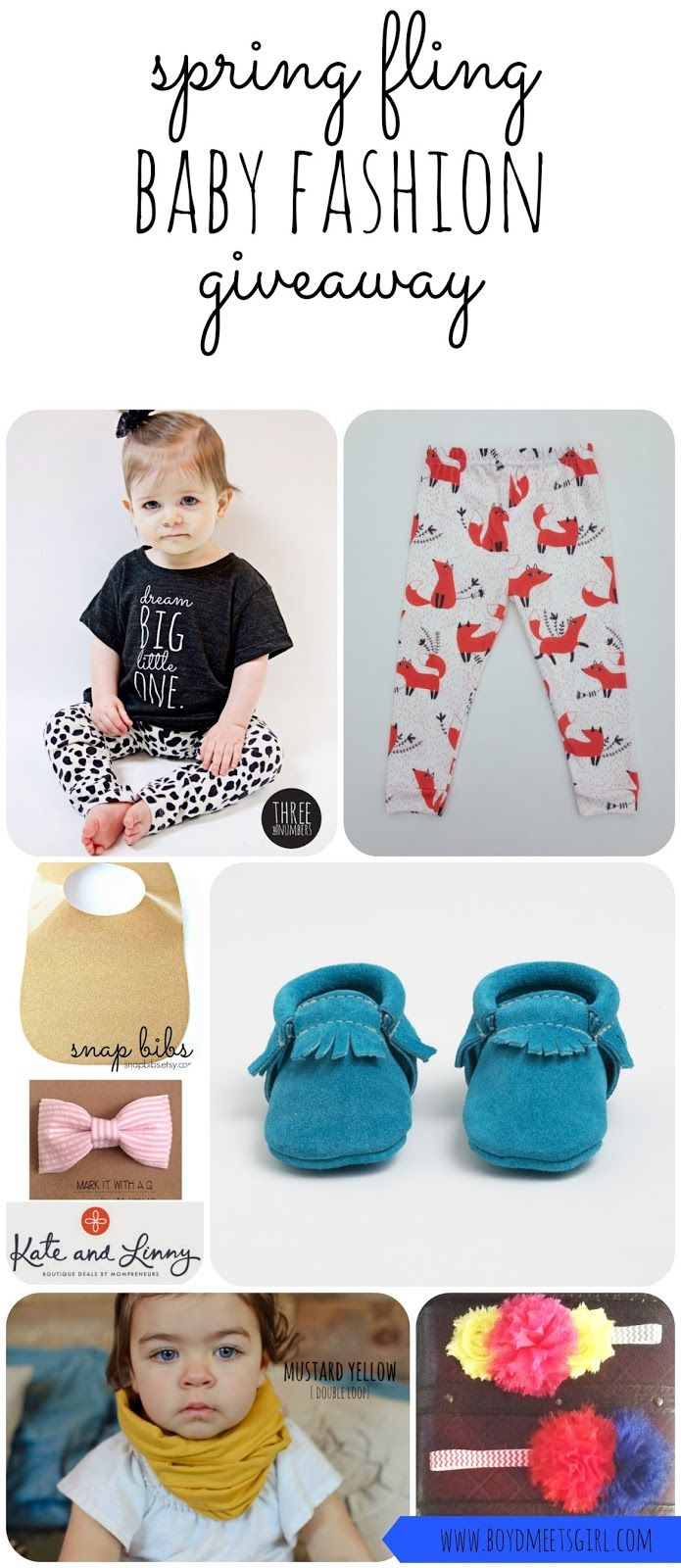Spring Fling Baby Fashion Giveaway featuring Freshly Picked, Three Little Numbers, Wild Frays, Mag+Pie, Snapbibs, Kate&Linny, and Miss Charlie's Bowtique,!!! #giveaway #freebabystuff @Amanda Thiessen @Kate and Linny @Jessica Numbers