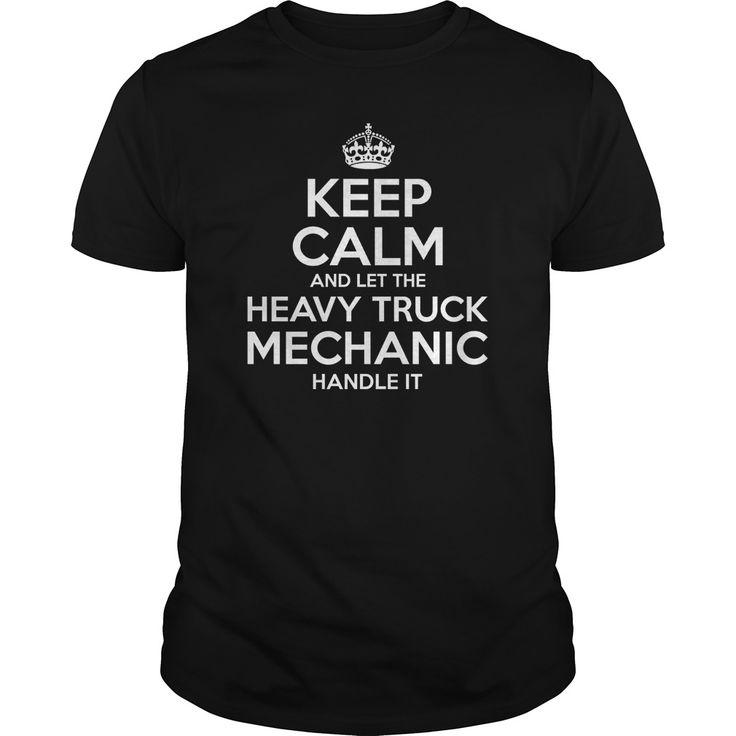 Heavy Truck Mechanic Check more at http://mechanicteeshirts.com/2016/12/30/heavy-truck-mechanic/