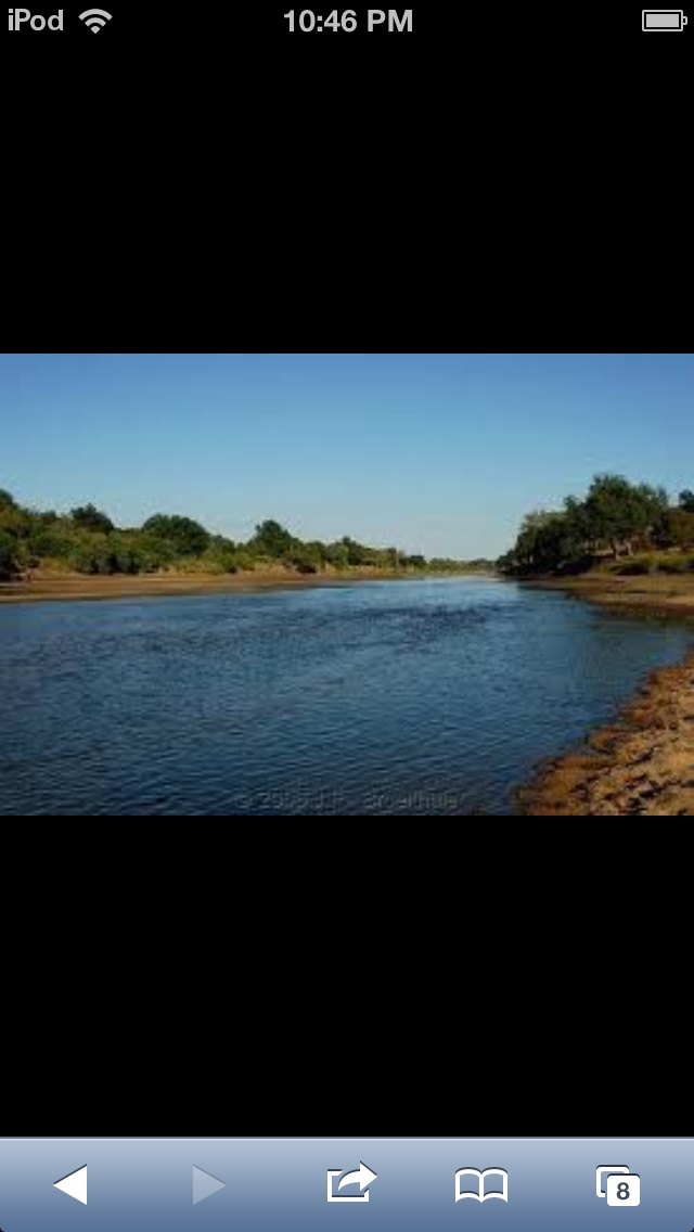 This is the Limpopo River, in Botswana