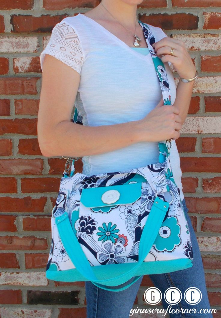 Concealed Carry Purse, GCC Deluxe w/ Zipper Closure- Gray, White, Navy, Coral and Aqua Floral - pinned by pin4etsy.com