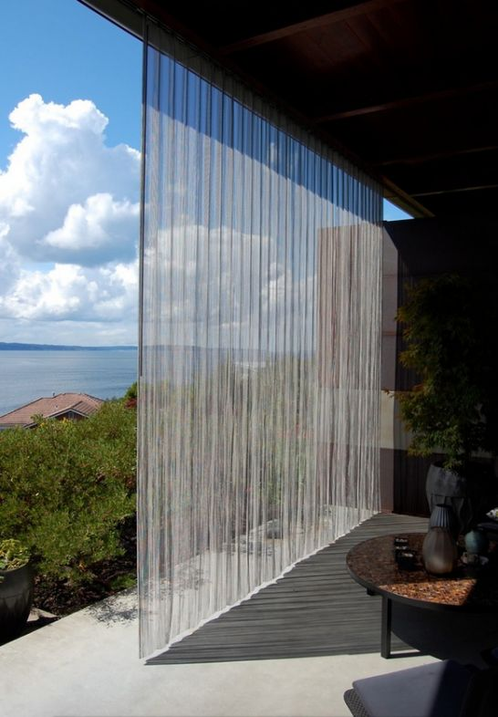 outdoor stainless steel wire mesh curtain | Landscaping ...