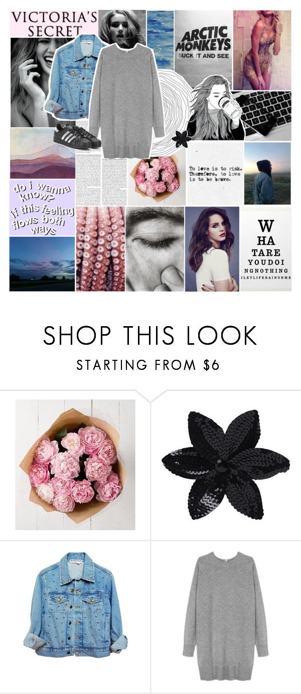 """""""i hate that i love you"""" by the-iconic-nika ❤ liked on Polyvore featuring Whiteley, Marks & Spencer, Victoria's Secret, ASOS, High Heels Suicide, Wood Wood and adidas"""