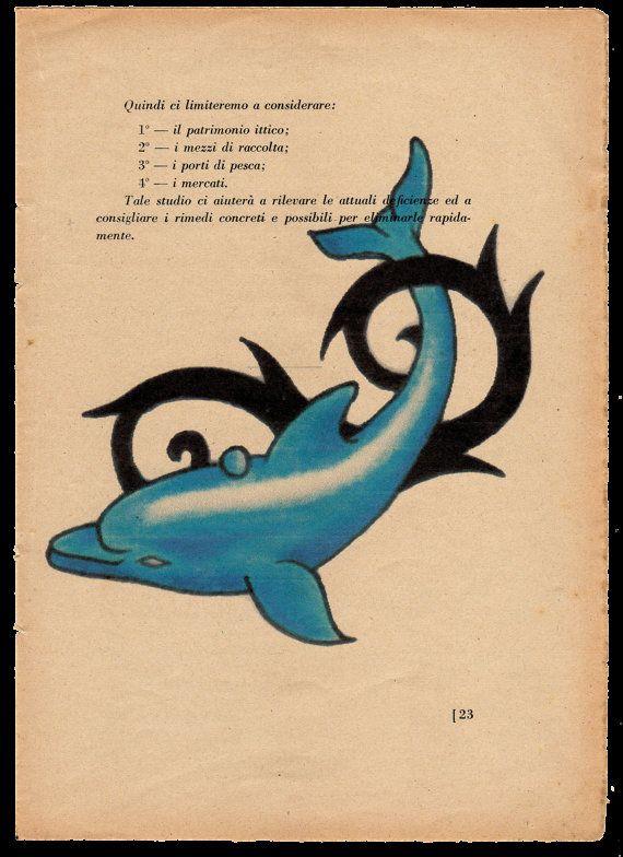 Pag.23 Delfino tatoo nero  azzurro. Posizione di StonesInLove