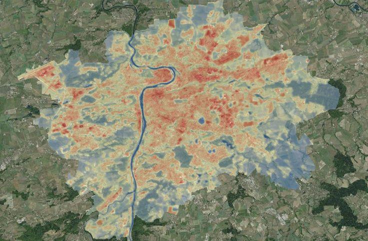 Mapa pražského horka