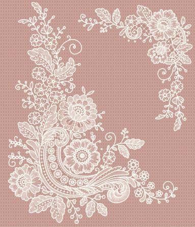 White Lace Clip Art Free | corner lace clip art vector art 165798017