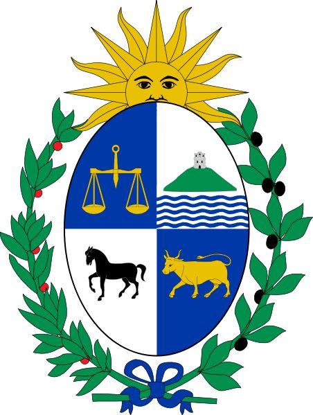 igualdad. fortaleza. trabajo fuerza. riqueza  Coat of arms of Uruguay