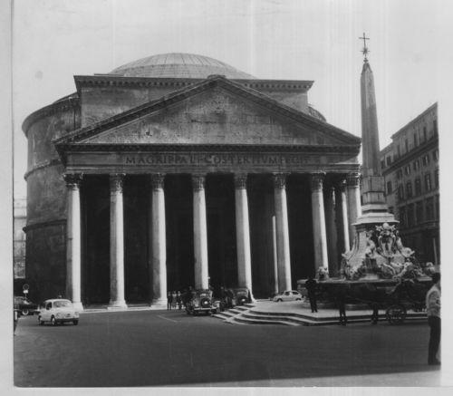 Italia-Roma-034-El-Panteon-034-Vintage-Tirage-argentique-16x18-Circa-1964