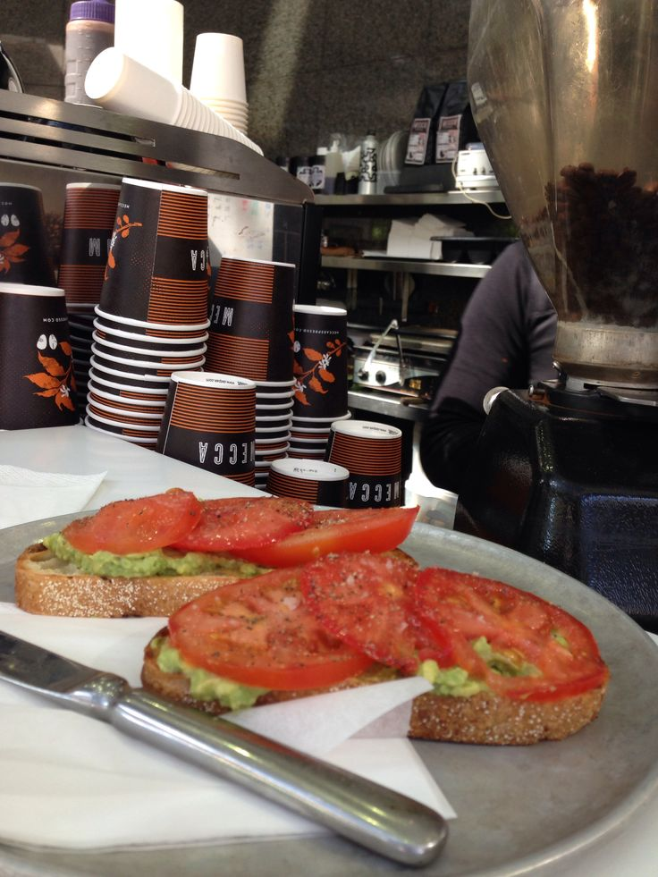 avo and toms on toast! at Mecca Circular Quay. best best! love the sourdough from brickfields and served by lovely people✌️