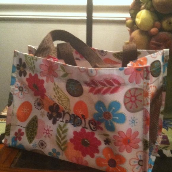 """Thirty one utility tote small """"Annie"""" Like new excellent tote measures 12  X 8 X 7 thirty one Bags Totes"""