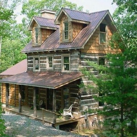 Elevation of porch and scale of cabin. #amazinglogcabins