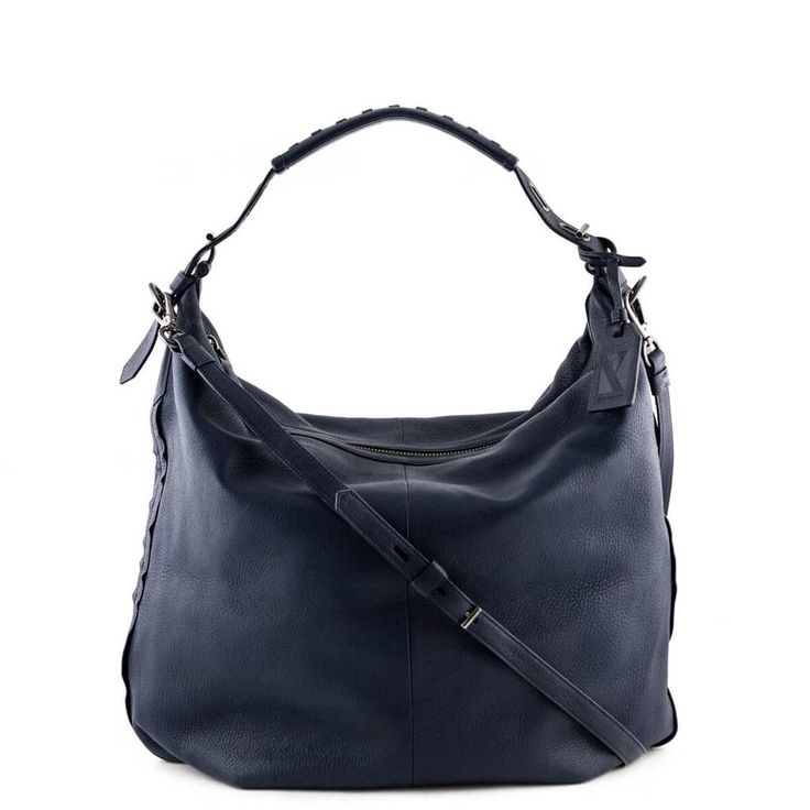 Reed Krakoff Navy Pebbled Leather Hobo - LOVE that BAG - Preowned Authentic Designer Handbags - $350 CAD