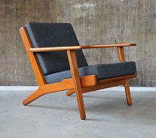 60er hans j wegner ge 290 sessel getama 60s oak easy. Black Bedroom Furniture Sets. Home Design Ideas